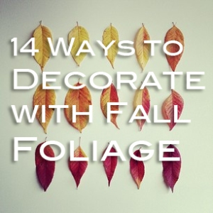 14 ways to decorate with fall foliage via Abbey Carpet SF