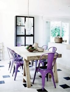 Radiant Orchid Inspiration via Abbey Carpet of SF