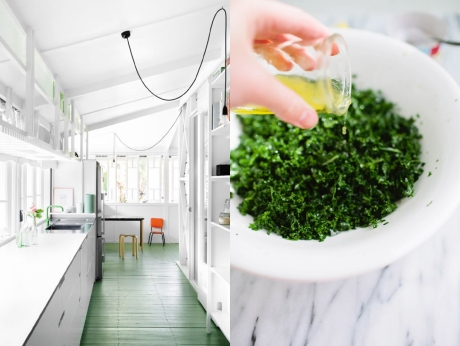 Bright kitchens and the salads we'd like to make in them!