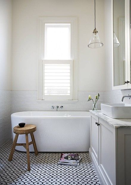 Beautiful Simplicity: Bathrooms via Abbey Carpet of SF
